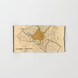 Map Of Athens Georgia 1893 Hand & Bath Towel