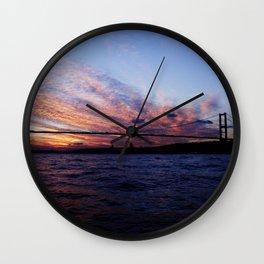 breath at sunset Wall Clock