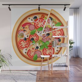 Italia Pizza time Wall Mural