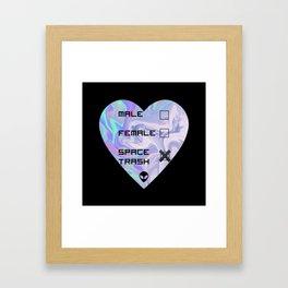 Male/Female/Space Trash Framed Art Print