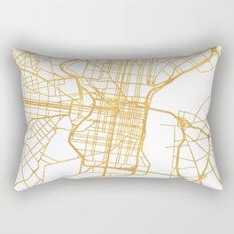 PHILADELPHIA PENNSYLVANIA CITY STREET MAP ART Rectangular Pillow