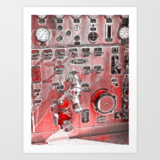 Controling Art Print