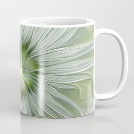 Olive Fantasy Flower Coffee Mug