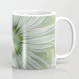Olive Fantasy Flower Coffee Mug