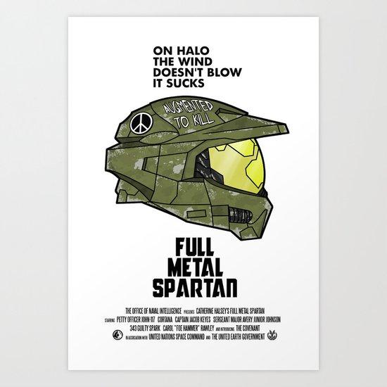 Full Metal Spartan Art Print