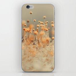 Mustard Yellow Flowers iPhone Skin