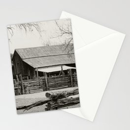 Old Barn and Rail Fence Stationery Cards