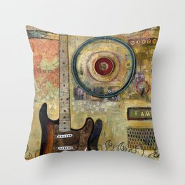 """Freedom Strat"" copyright 2013 Throw Pillow"