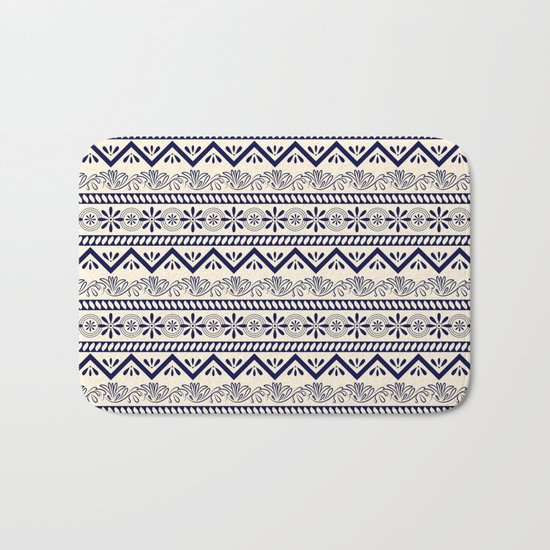 Tribal Pattern Bath Mat