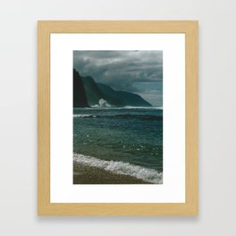 Ke'e Beach Framed Art Print