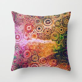 Metallic steampunk [2] Throw Pillow