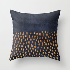 Pattern Play / Navy & Gold Throw Pillow