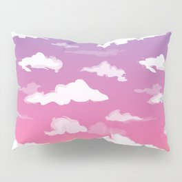 Sunset Ombré Sky and Clouds Print Pillow Sham