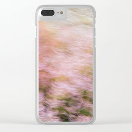 Abstract Heather Clear iPhone Case