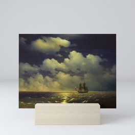 """Brig """"Mercury"""" Attacked by Two Turkish Ships Masterpiece by Ivan Aivazovsky Mini Art Print"""