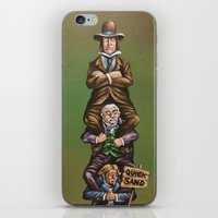 haunted mansion iPhone & iPod Skins featuring Haunted Mansion Portrait: Quicksand  by Jonathan R. Lopez