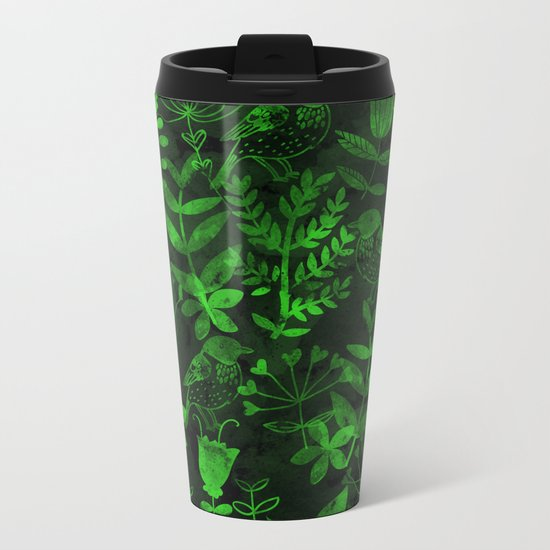 Abstract Botanical Garden IV Metal Travel Mug