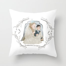 The White Witch and Edmund Throw Pillow
