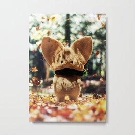 Timothy the autumn mouse Metal Print