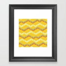 Tribal zig-zags Framed Art Print