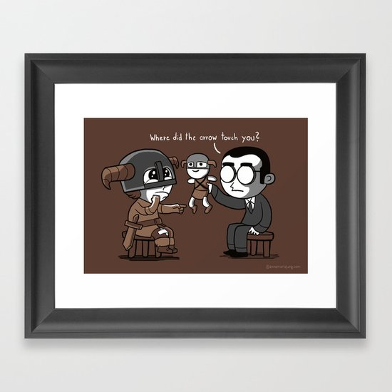 Knee Trouble Framed Art Print