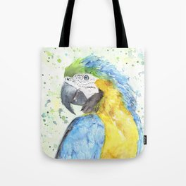 """Watercolor Painting of Picture """"Macaw"""" Tote Bag"""