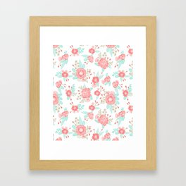 Girly Trend florals cute minimal modern painted flower bouquet colors of the year Framed Art Print