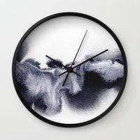 georgiana paraschiv Wall Clocks featuring MF12 by Georgiana Paraschiv