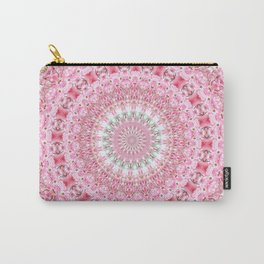 PRETTY PINK FLOWER MANDALA Carry-All Pouch