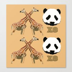 XOXO wild animals Canvas Print