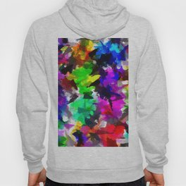 psychedelic splash painting abstract texture in pink blue green yellow red black Hoody