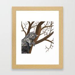 Tree Cat Framed Art Print