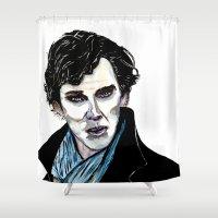 cumberbatch Shower Curtains featuring Sherlock - Benedict Cumberbatch by Siriusreno