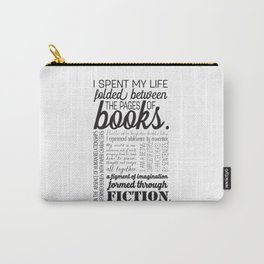 Folded Between the Pages of Books Carry-All Pouch