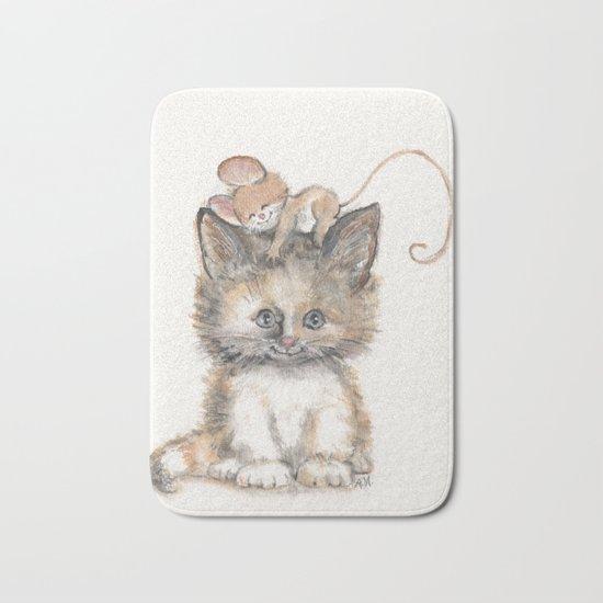 Cat and Mouse Bath Mat