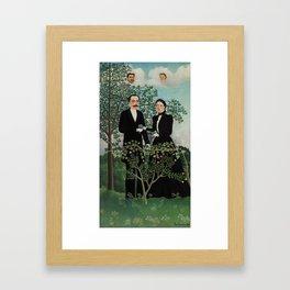 The Past and the Present, or Philosophical Thought (Le Passé et le présent, ou Pensée philosophique) Framed Art Print