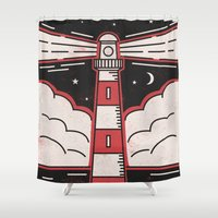 lighthouse Shower Curtains featuring Lighthouse by Andy Rogerson