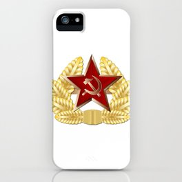 Soviet Cap Badge iPhone Case