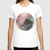 aqua T-shirts featuring Aqua by Madelyne Joan Templeton