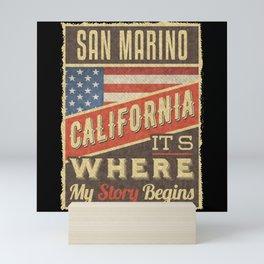 San Marino California Mini Art Print