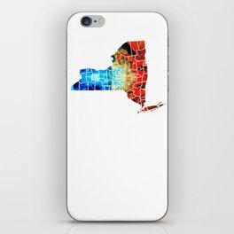 New York - Map By Sharon Cummings iPhone Skin