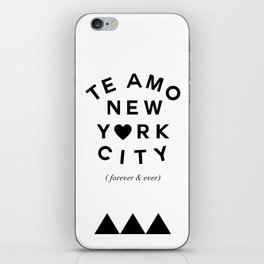 (EXTRA BOLD) TE AMO NEW YORK CITY (forever & ever) iPhone Skin