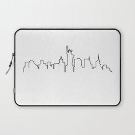 One Line - New York Skyline Laptop Sleeve