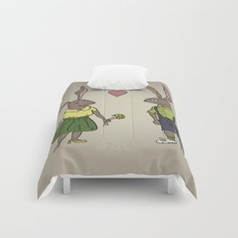 Rabbits in love Comforters