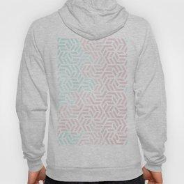 Pastel Deco Hexagon Pattern - Aqua and Pink #pastelvibes #pattern #deco Hoody