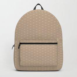Pantone Hazelnut Double Scallop Wave Pattern Backpack