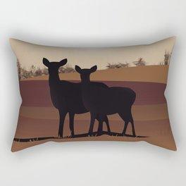 Woburn - Bedfordshire Vintage style travel poster. Rectangular Pillow