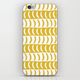 Wavy Stripes Mustard Yellow 2 iPhone Skin
