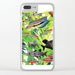 Small Tropical fish Clear iPhone Case