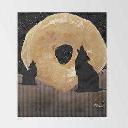 Donut Howl Throw Blanket